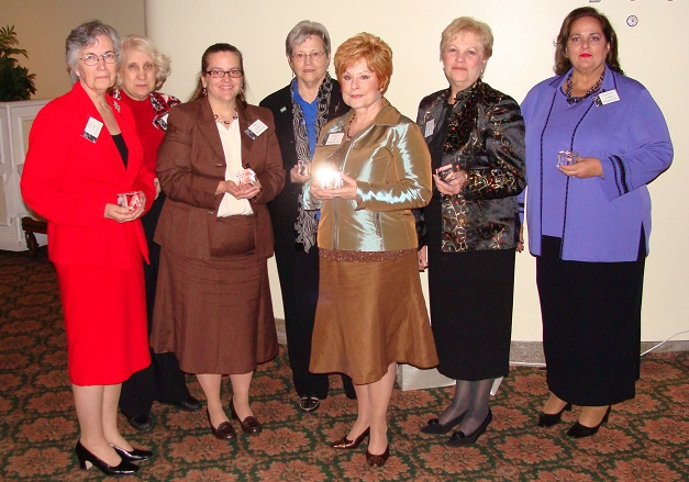 Nancy Clark-Sylvia Hall-Ellis-Sara Baron-Cathy Hartman-Sharon Carr-Jerilynn Adams Williams-Lynnette Jordan