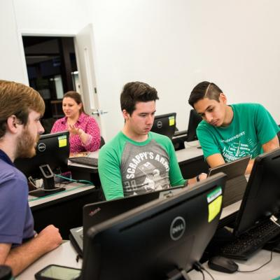Students Checking Their Programs in Computational Linguistics