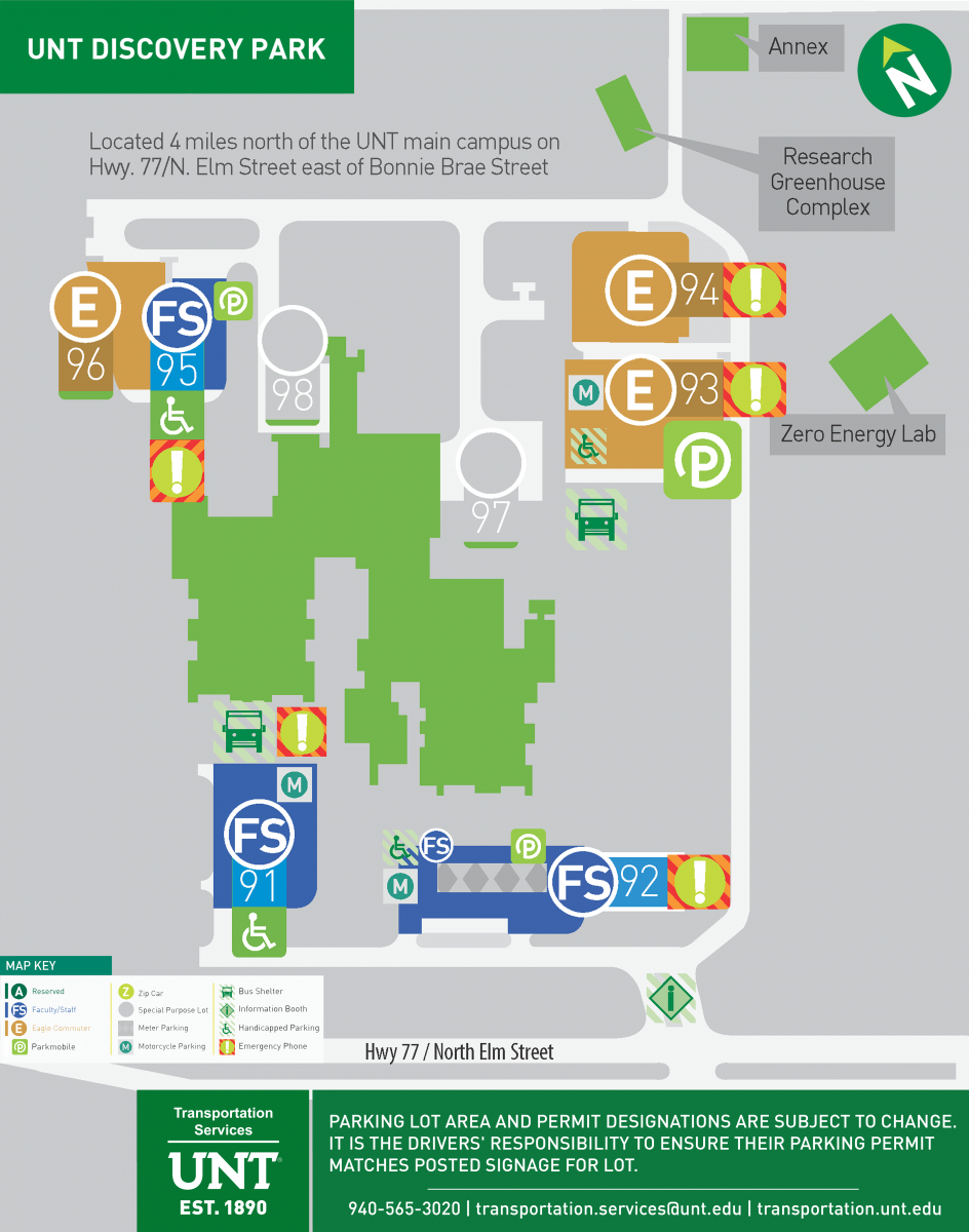 Discovery Park Parking Map
